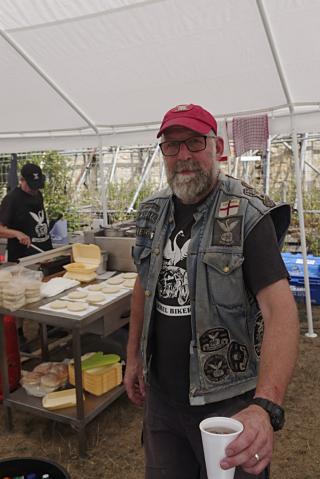 Barrel Bikers Show food tent