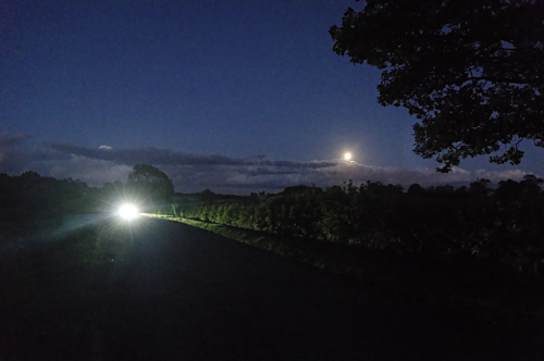 Middle Claydon  autumn and moon