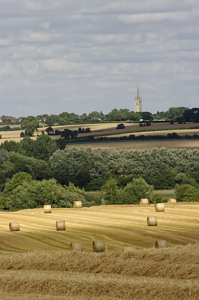Hanslope church from Tardley Gobion