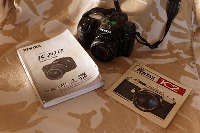 Pentax K20D and manuals