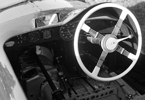 1937 Riley cockpit