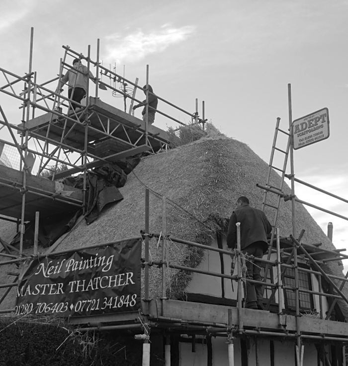 Rethatching at Orchard Cottage  Quainton 05