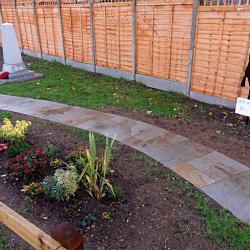 Steeple Claydon Memorial Garden path