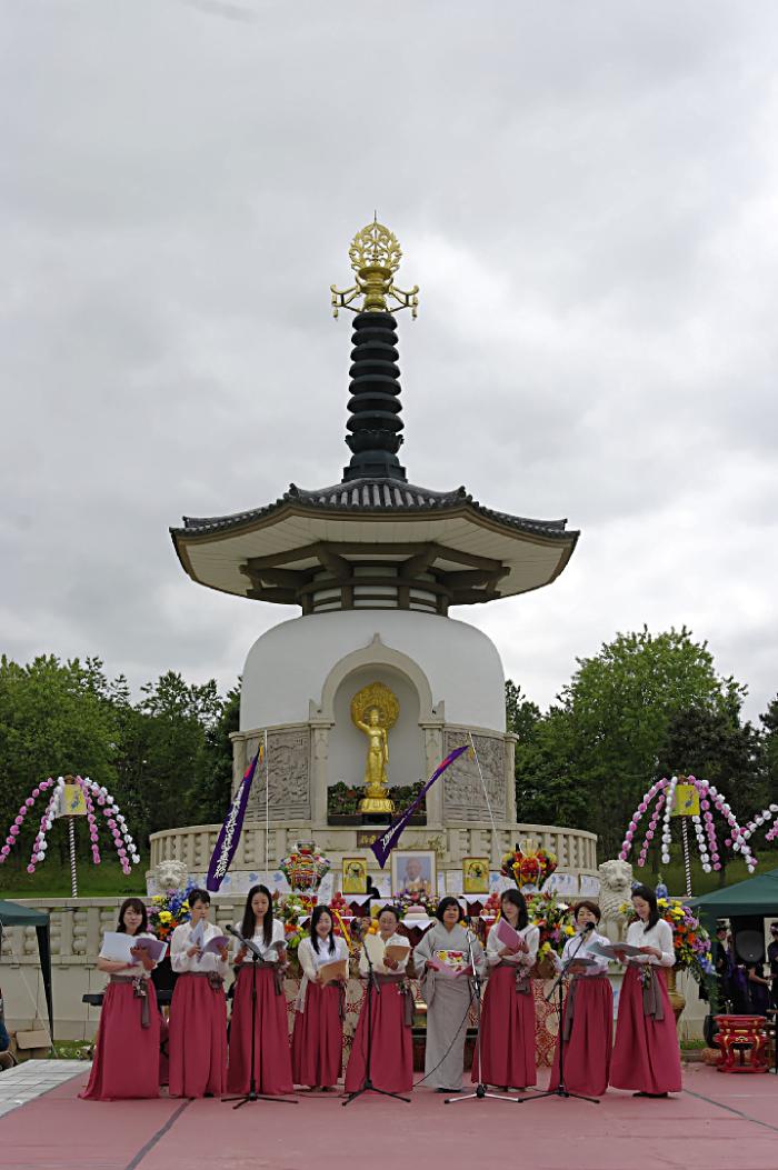 Japanese female choir at PEace Pagoda