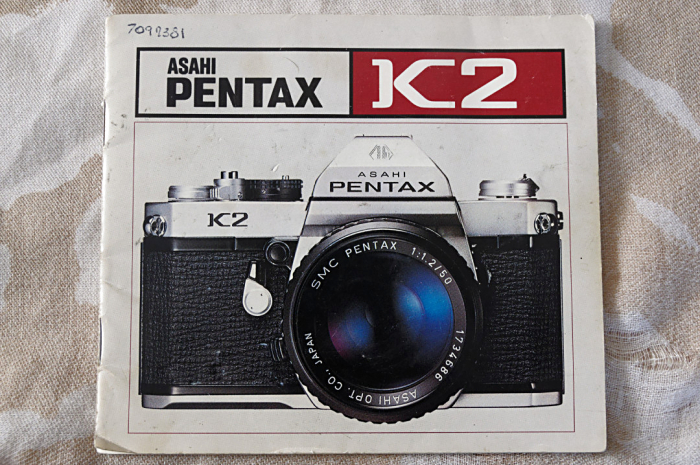 Pentax K2 manual front