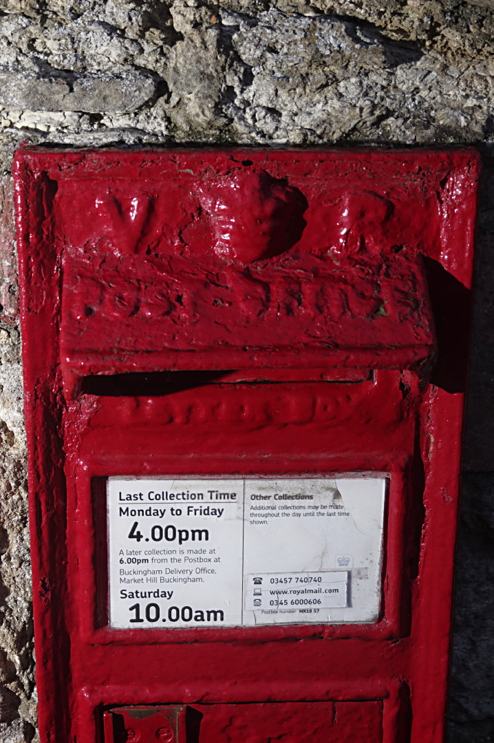 Victorian postbox  East Claydon
