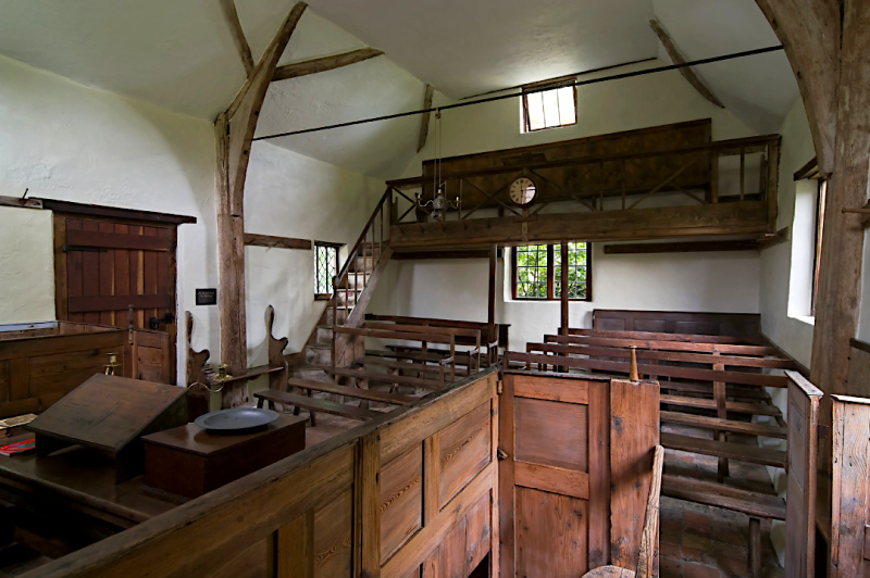 The interior of Keach's Meeting House  Winslow