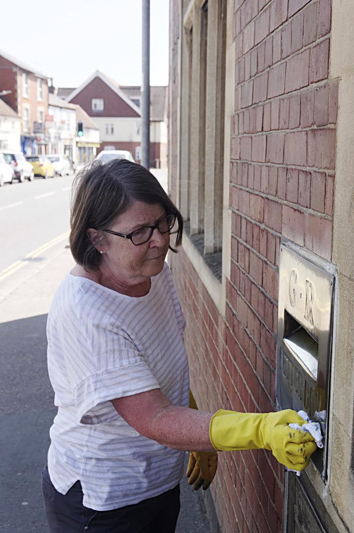 Polishing a letterbox