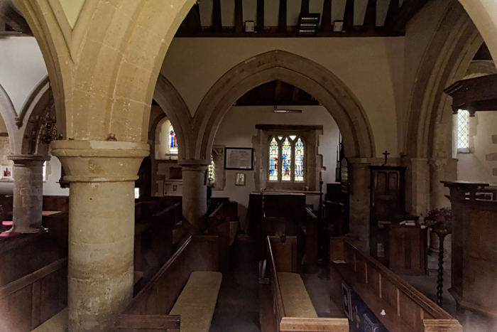 Inside Ickford church