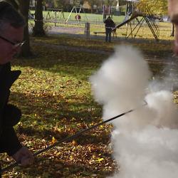 Fr. Bullock fires a Fenny Popper 05