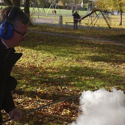 Fr. Bullock fires a Fenny Popper 04