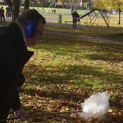 Fr. Bullock fires a Fenny Popper 01