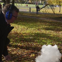 Fr. Bullock fires a Fenny Popper 03