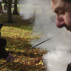 Fr. Bullock fires a Fenny Popper 06