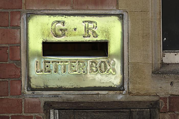 Brass letterbox  Winslow