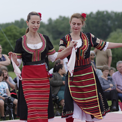 Traditional Hungarian dancing