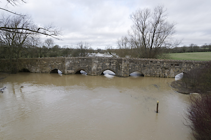 Flooding at Thornborough bridge