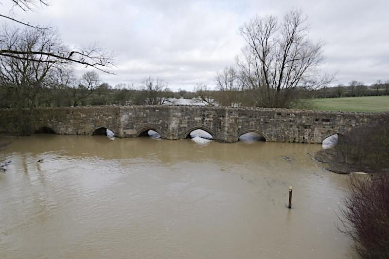Flooding at Thornborough bridge