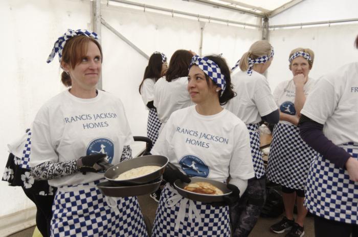 Before the pancake race