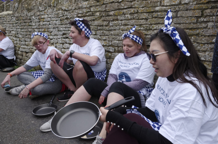 Resting after the pancake race Olney