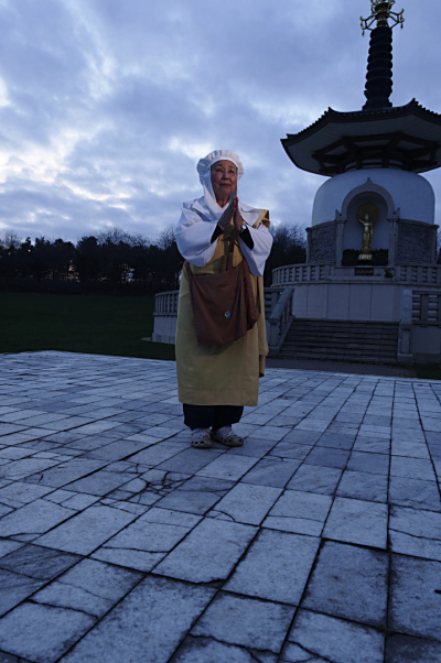 Nun at Peace Pagoda  Milton Keynes