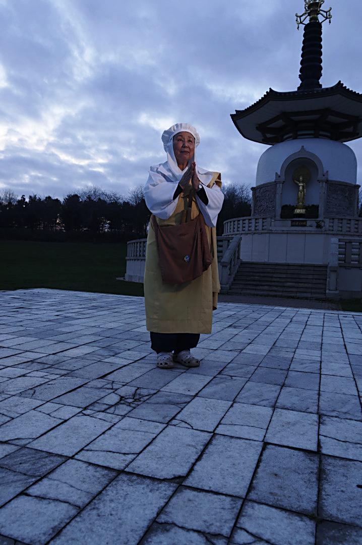 Nun at Peace Pagoda  Milton Keynes