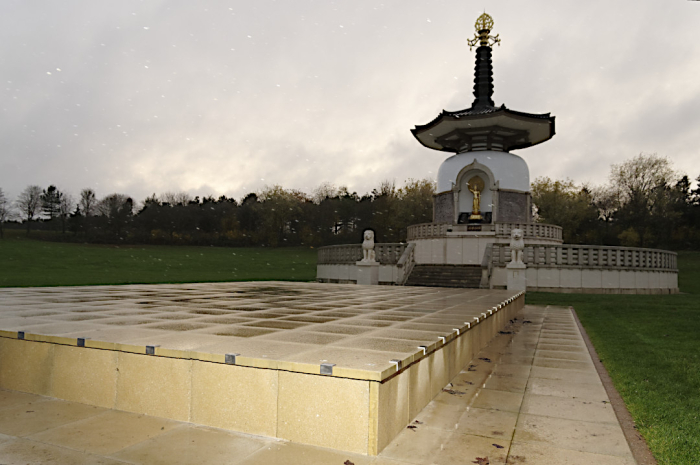 New platform at the Peace Pagoda