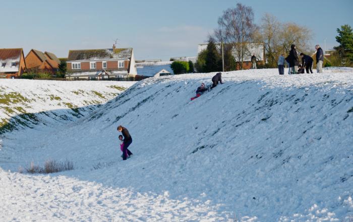 Castlethorpe's snowy ramparts