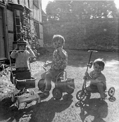 Boy on a Tricycle  Summer 1962