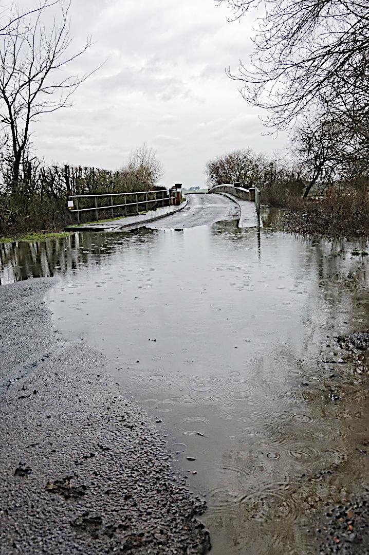 Oxlane bridge  in flood