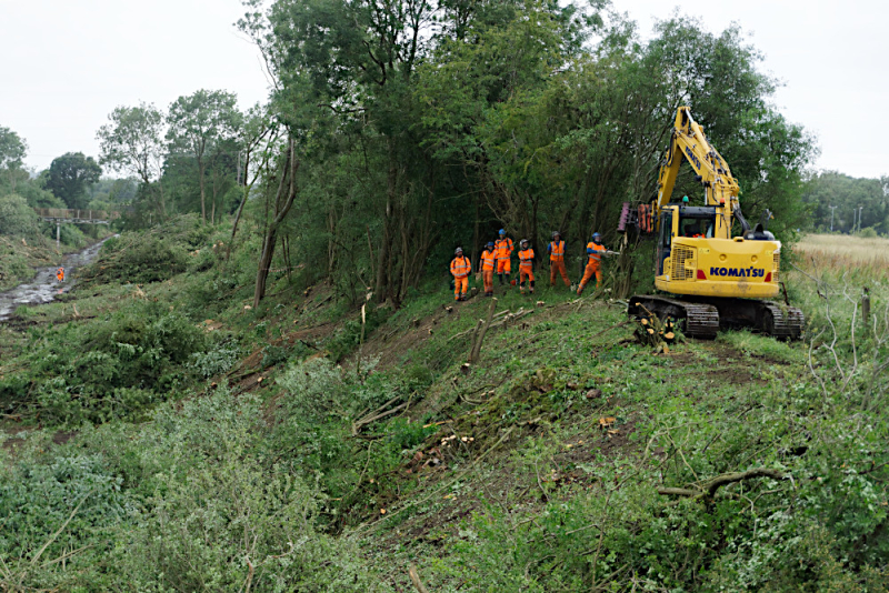 Railway cutting  Winslow