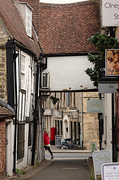Alley and half timbered building  Olney