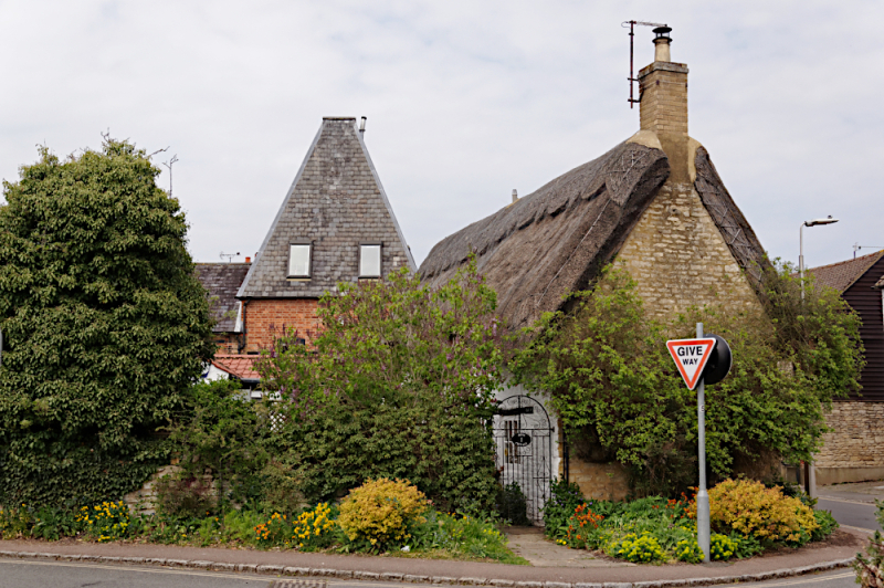 Oast house and Dove Cottage  Olney