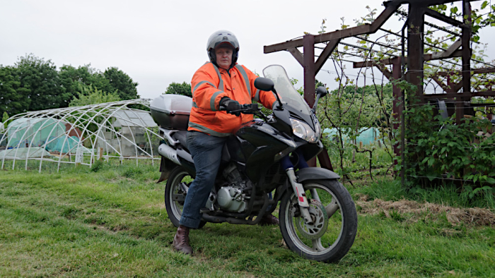 Allotment and motorcycle