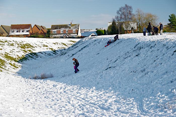 Snow at Castlethorpe