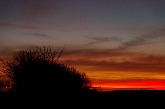 Sunset at Hoggeston