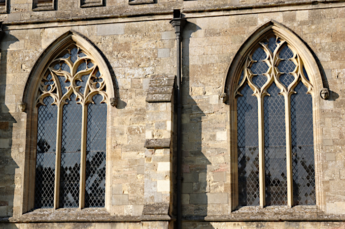 Reticulated church windows  Olney  Bucks