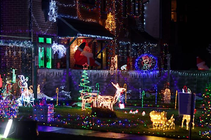 Christmas light in Milton Keynes