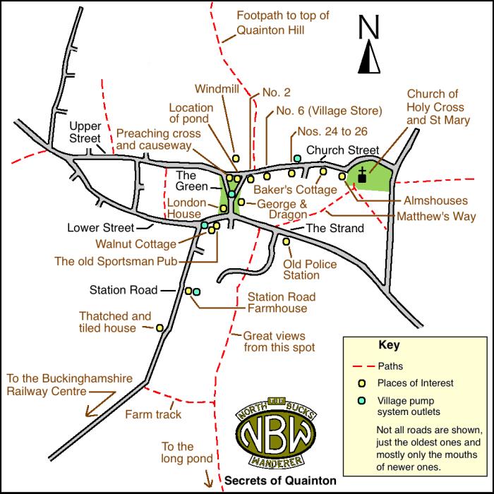 Secrets of Quainton map