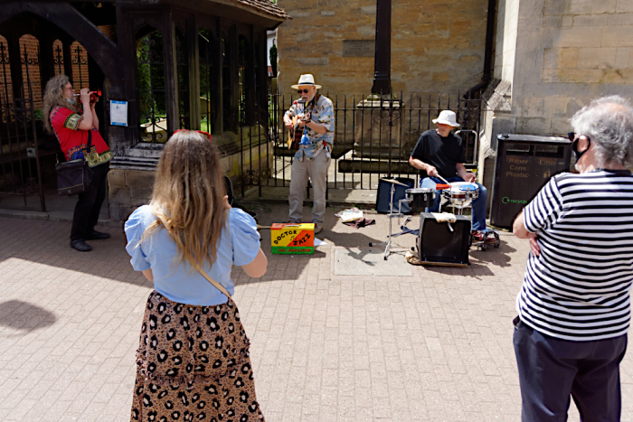 Live music by the church