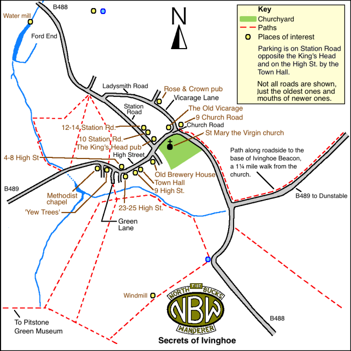 Secrets of Ivinghoe map