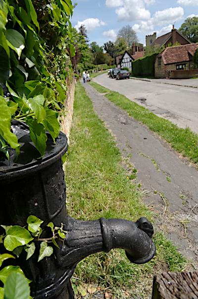 Church Street and pump  Quainton