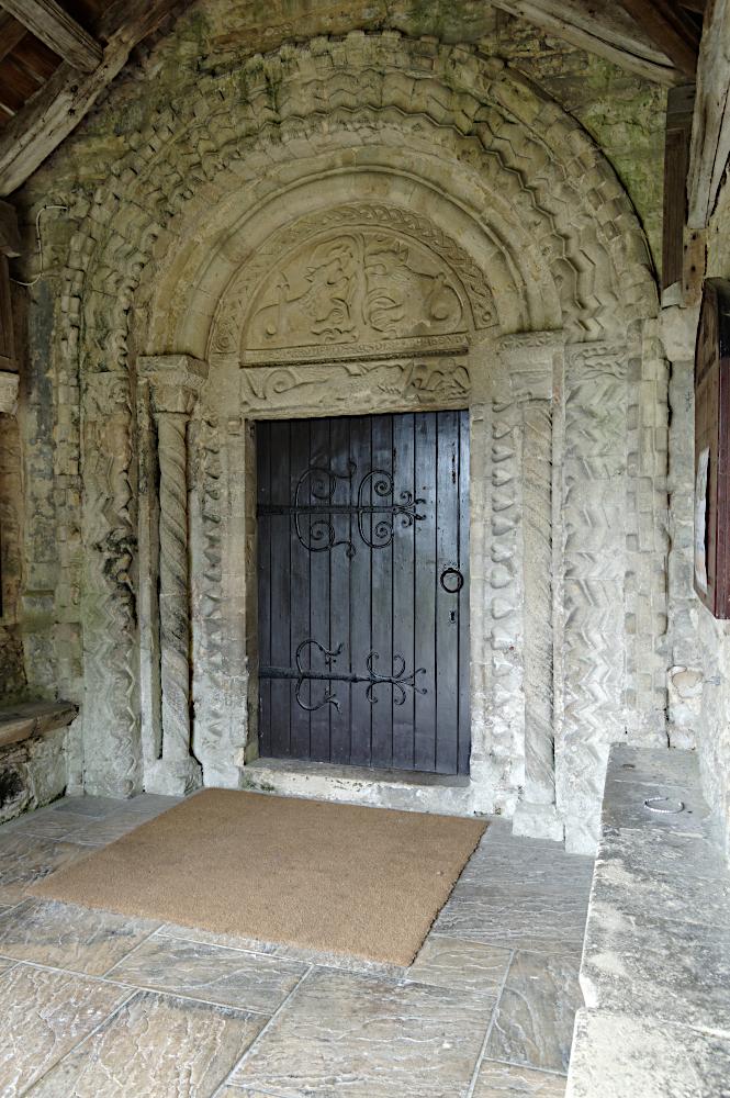 Norman doorway  Dinton church  Bucks